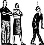 black-and-white-vector-illustration-of-teen-arguing-with-parents_133942358